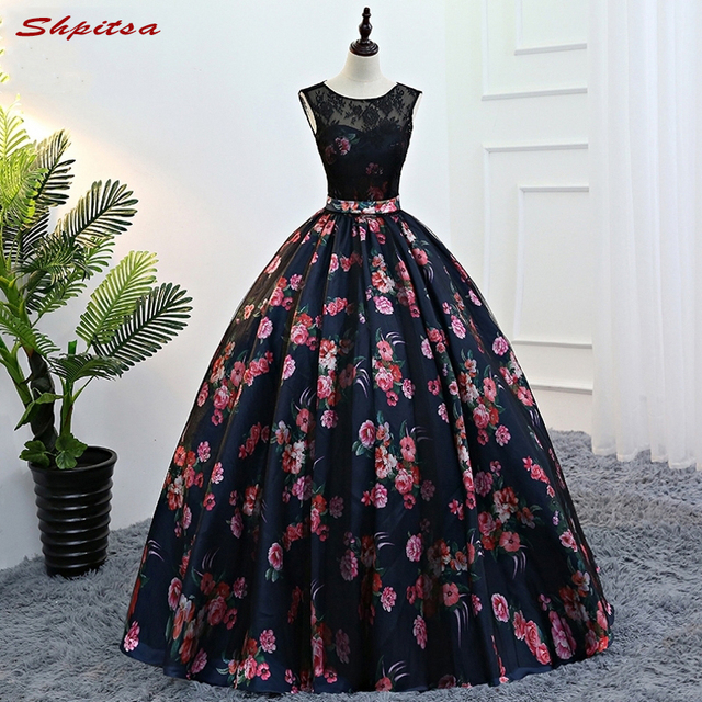 Flower Quinceanera Dresses Sweet 16 Dresses Masquerade Ball Gown ...