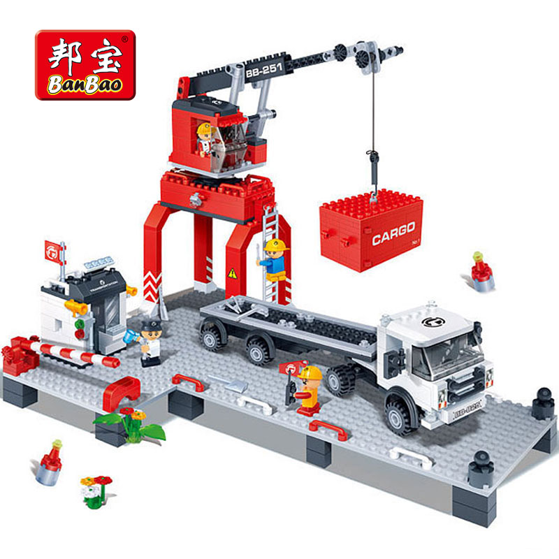 BanBao 8766 Wharf Dock Transport Educational Building Blocks Bricks Toys For Kids Children Gifts Compatible With Legoe зеркало evoform primary d40 см со шлифованной кромкой by 0038