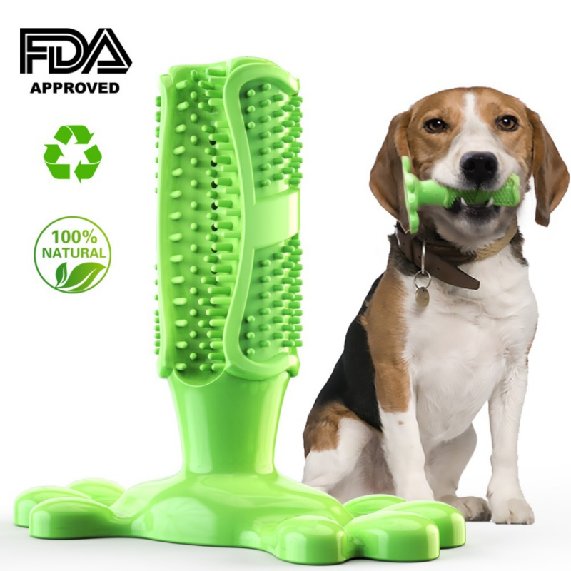 Dog Toys Tooth Brush Bite Resistant Pet Chew Toy Remove Bad Breath Cleaning Tooth For Small Puppy Dog Accessories Safe Non-toxic