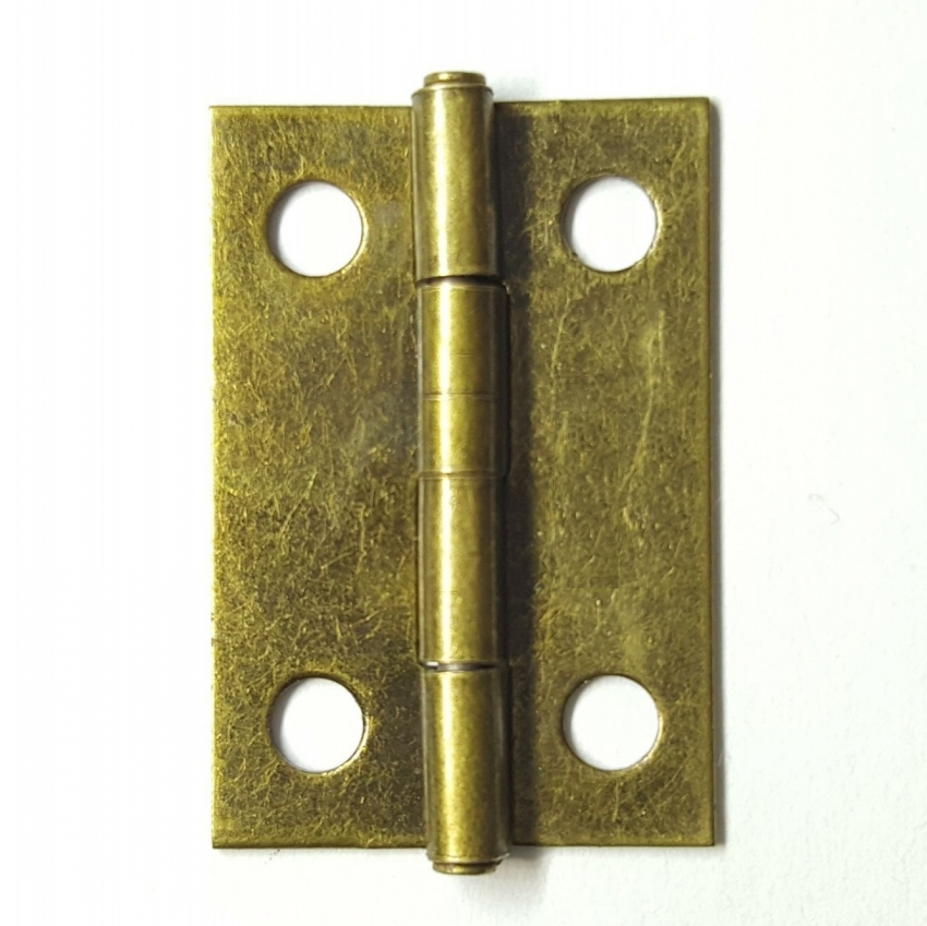 200pcs/lot 17*24mm 1 Inch Hinges Brass / Bronze Optional Wooden Box Parts Small Hinge Iron Flat Hinge Gift Craft Box Decoration
