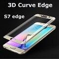 Ultrafino 3d premium vidro temperado protetor de tela para samsung s7 edge hd borda de vidro temperado temperado película protetora para s7