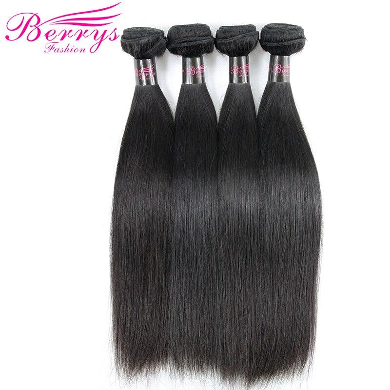 Peruvian Virgin Hair Straight 4 pcs lot 100 Unprocessed Human Hair Extensions Natural Black Color 8