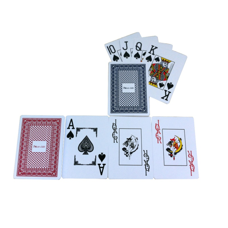 2017 Funny PVD Plastic Playing Cards frosted wide big line Texas poker edition water proof poker plastic card j2