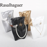 Top High Quality Black/White/Gold/Silver Resin Jewelry Display Bust For Earring Pendant Necklace Jewelry Display Stand Holder