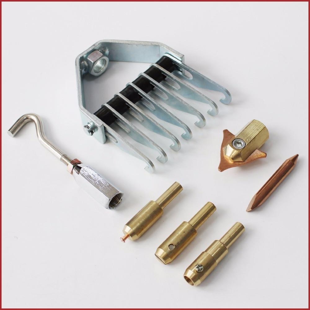 Supporto per 3 punti elettrodo dent puller tirare dritto anelli twist tirando artiglio gancio rondelle di saldatura a punti tri-gancio auto auto corpo