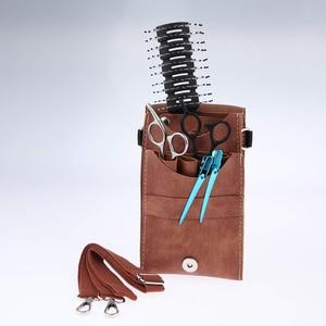 Image 5 - Funda para tijeras soporte para tijeras de peluquero profesional, bolsa para herramientas de peluquero, estilista, contenedor de Peine