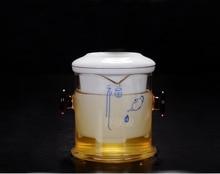 Free Shipping Chinese Kung Fu tea set, including 1pot and 6cup  tea set, black tea Pu'er tea flower teaset