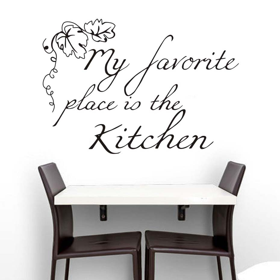 grapes wall decor promotion shop for promotional grapes wall decor my favorite place is the kitchen grape leaves pattern quotes wall sticker pvc removable house decoration wallpaper wall poster