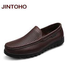 336c48a1fe Jintoho tamaño grande 37-48 para hombre vestido de cuero italiano zapatos  deslizamiento de cuero genuino en mocasines marca moca.