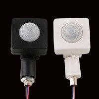 85 4 pcs Alta Qualidade PIR Automático-265 V PIR Infrared Sensor de Movimento Detector de Segurança Parede CONDUZIU a Luz Ao Ar Livre 160 Graus 60 W