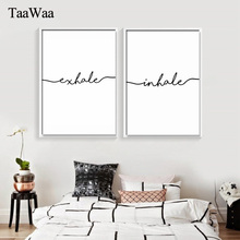 TAAWAA Minimalist Nordic Art Black and White Poster Love Quote Wall Canvas Print Painting Decorative Picture for Living Room