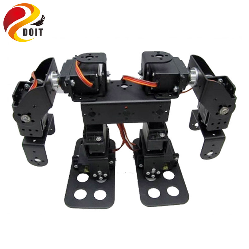 Original DOIT 8DOF Humanoid Robot Walking Bipedal Steering Gear Bracket Part Including Wheel diy remote control development kit dynamite baits xl pineapple