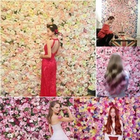 NIEUWE! 10 stks/partij kunstzijde Witte Pioen bloem muur bruiloft achtergrond gazon/pijler bloem road lood thuis markt decoratie