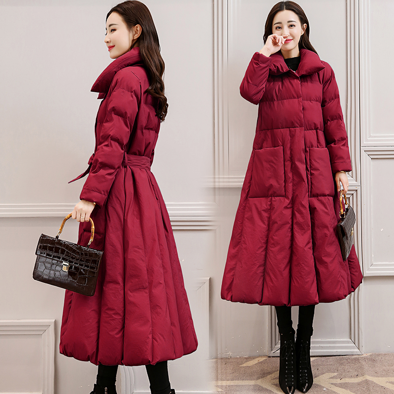 2018 autumn Winter Long Down Jacket women   parkas   thickening Female Warm Clothes plus size 3XL   parka   coat feminina