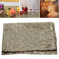 1.5x1m Sparkly Rose Gold Sequin Fabric Table Runner for Home Holiday Wedding Party Decoration Crafts DIY Material