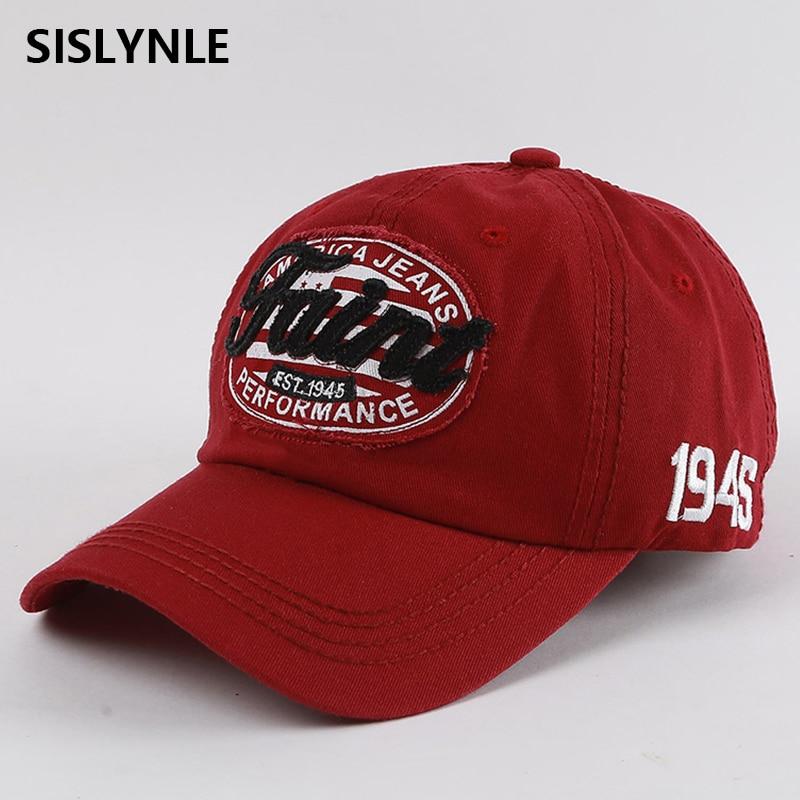 SISLYNLE 2017 ब्रांडेड बेसबॉल कैप - वस्त्र सहायक उपकरण