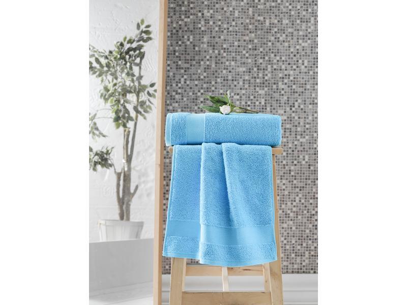 Hand towel and face KARNA, MELTEM, 50*90 cm, turquoise business card holder v 90 fp turquoise