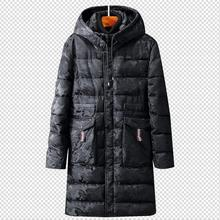 Plus Size 10 XL COTTON Long Warm Outwear Black camouflage Hooded Men's Winter thick Jacket Man Trench Coat Down Parkas 5XL 6XL