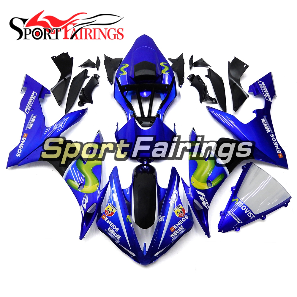 Injection Fairings For Yamaha YZF R1 04 05 06 2004 - 2006 ABS Motorcycle Full Fairing Kit Bodywork Cowling Blue Body Kit Panels motorcycle fairings fit for yamaha yzf r1 yzf 1000 yzf r1000 yzf1000 2007 2008 07 08 abs injection fairing bodywork kit a0802