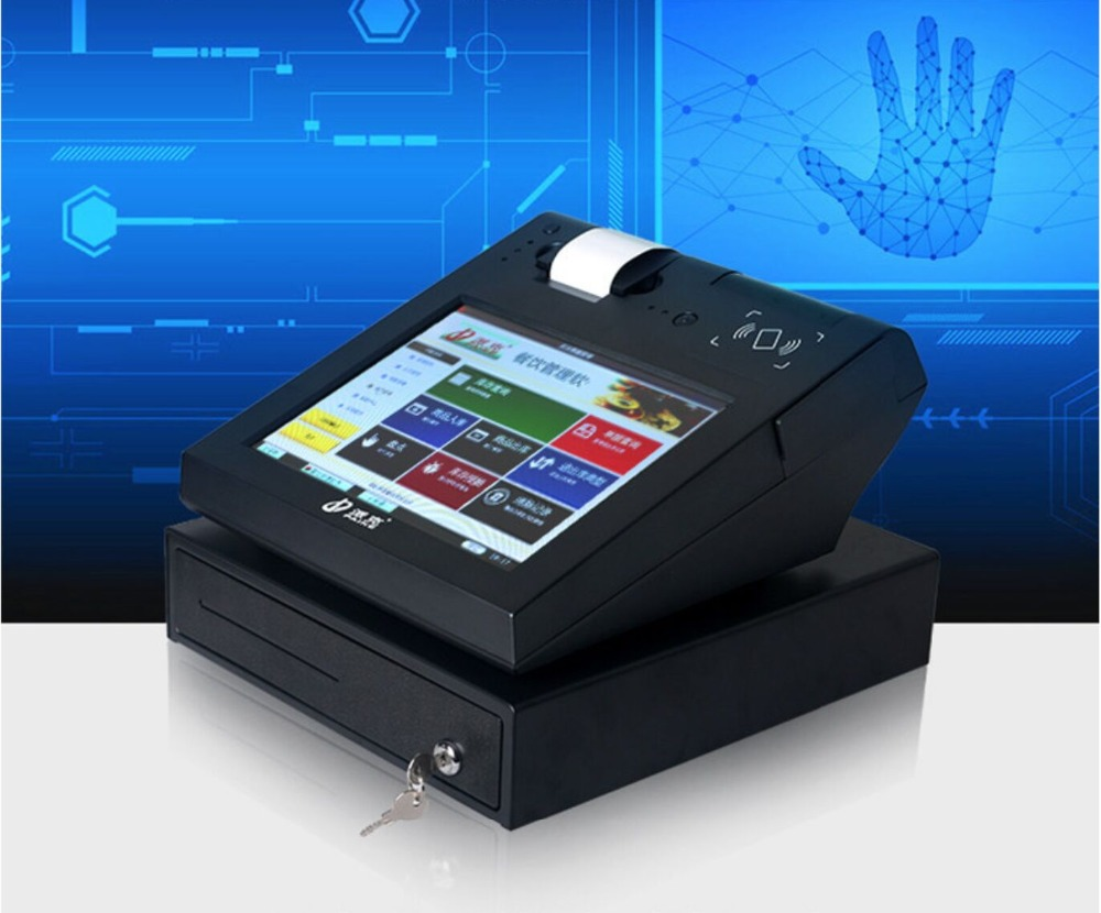 12 Inch Pos Terminal /all In One Touch PC/pos System With Mini Receipt Printer