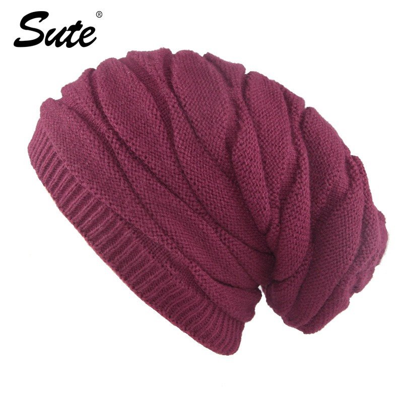 sute NEW Autumn And Winter Bonnets Hat For Men Women Knitted Plaid Beanies Skullies Keep Warm Add Velvet Caps Men Bonnet M-370 new 2016 winter hat for women bonnets knitted wool caps shag line warm hat multicolor coarse lines skullies beanie hat wh007 a m