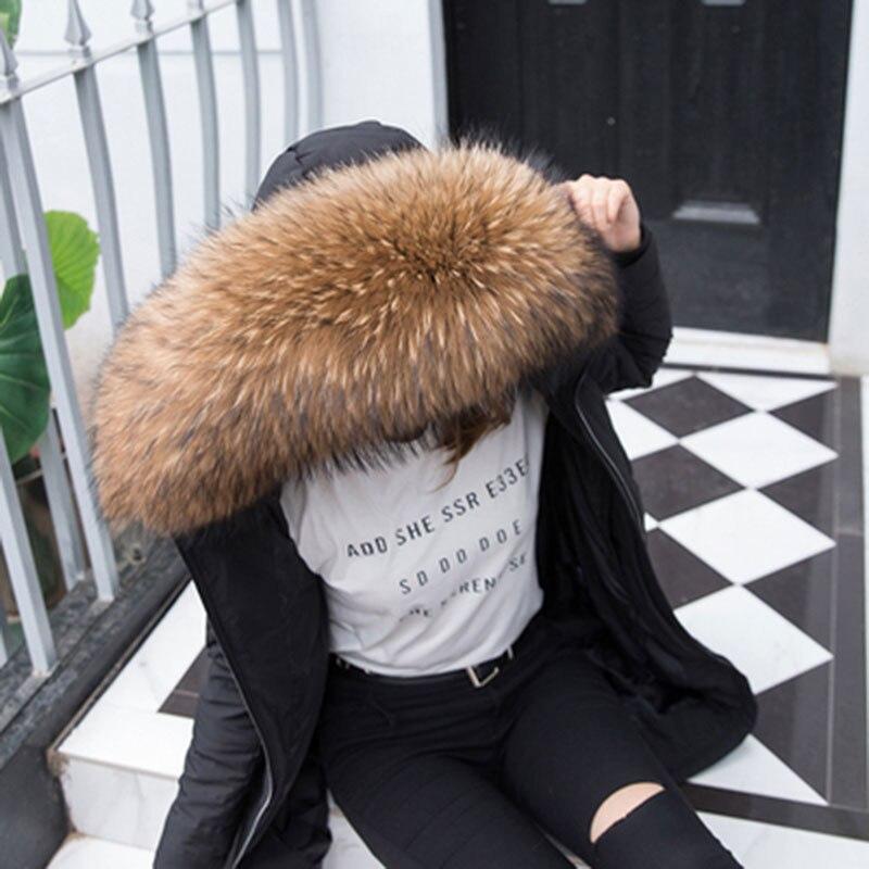 Super Large Scorpion Korean Version Of Fur Fur Collar Universal Fox Fur Really Fur Collar Down Jacket Color Hat Tops Scarf Ladie