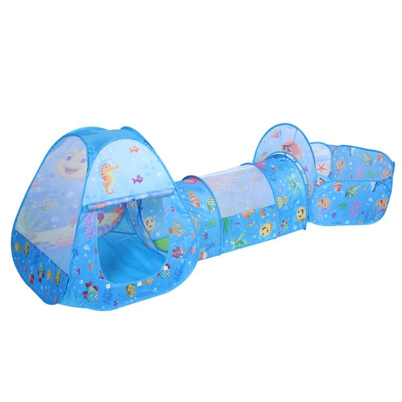 3 in 1 Child Pool-Tube-Teepee baby tent for kids foldable toy children plastic house game play inflatable tent yard Ball Pool