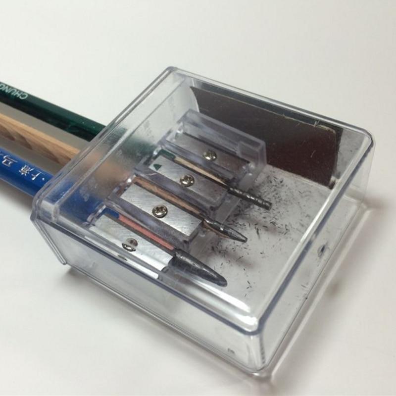4 Holes Multi-functional Sharpener For Charcoal Pencil Sketch Pencils Drawing FJ
