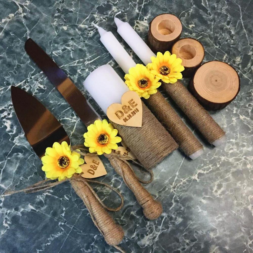 Rustic Wedding Accessories Set Rustic Unity Candle Set Rustic
