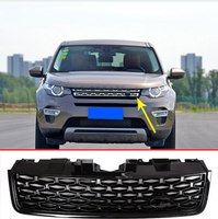 Черная Глянцевая Автомобильная головка передняя решетка рамка Крышка Накладка для Land Rover Discovery Sport 2015 2018 аксессуары запасные части