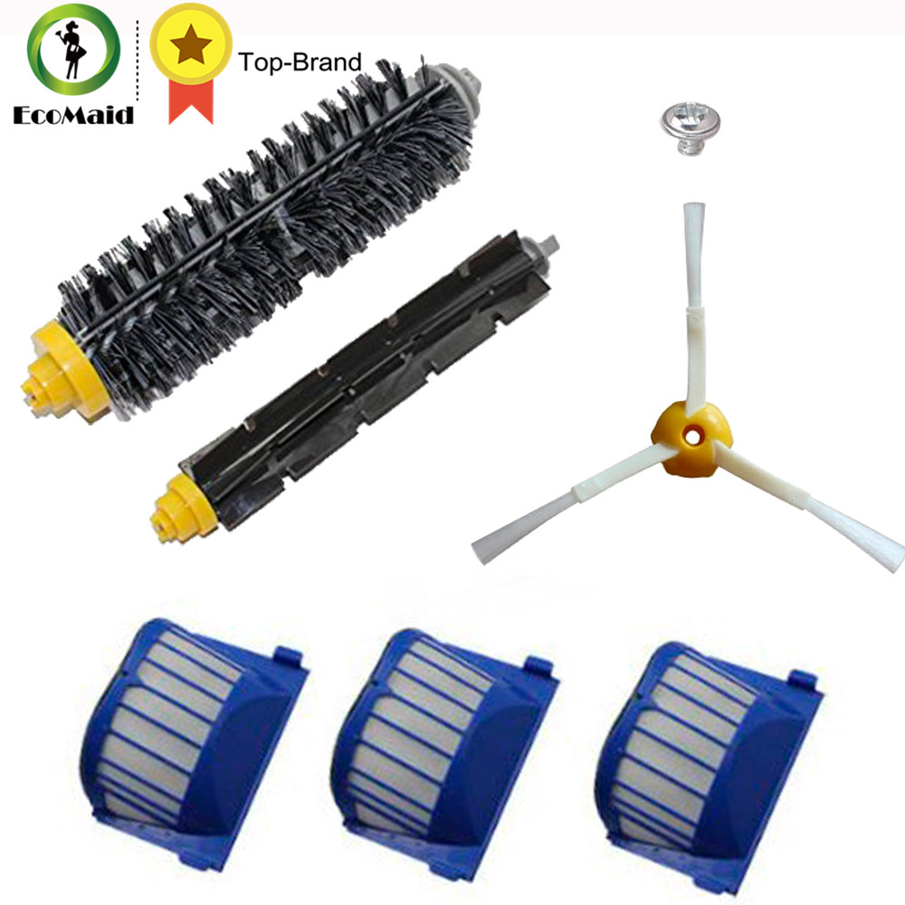 Aero Vac Filter Brush  Kit For IRobot Roomba 600 Series 620 630 650 660 585 595 Replacement Roomba Vacuum Cleaning Accessories