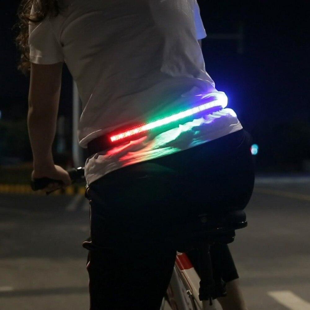 Outdoor Sports Night Cycling Safety Reflective Belt Light Flashing Waistband Bicycle Jogging Running Skating Waist Band