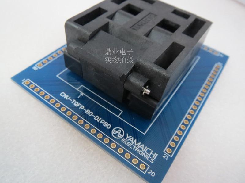 QFP80 TQFP80 QFP11T080 005 Burn in Socket gold plating IC testing QFP80 0 65mm Pitch 12