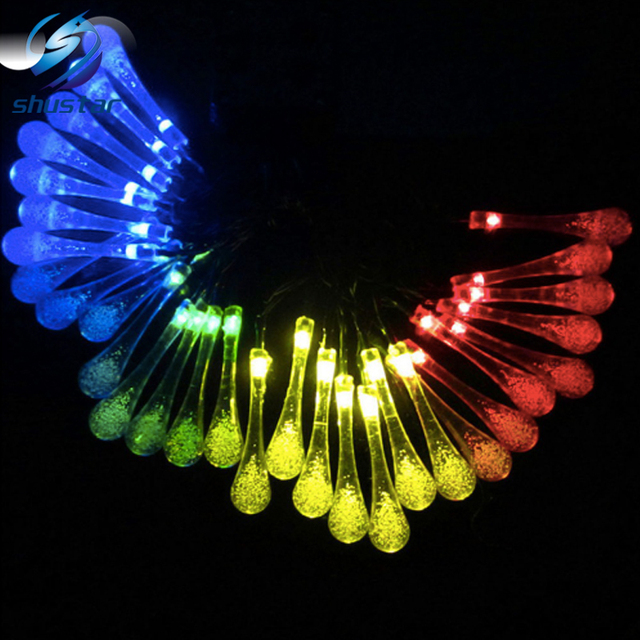 20/30 leds Lollipop solar led luz de la secuencia Del Partido de Navidad de la Navidad de La Boda Decoración Luz de Hadas de Cuerdas de La Lámpara Al Aire Libre