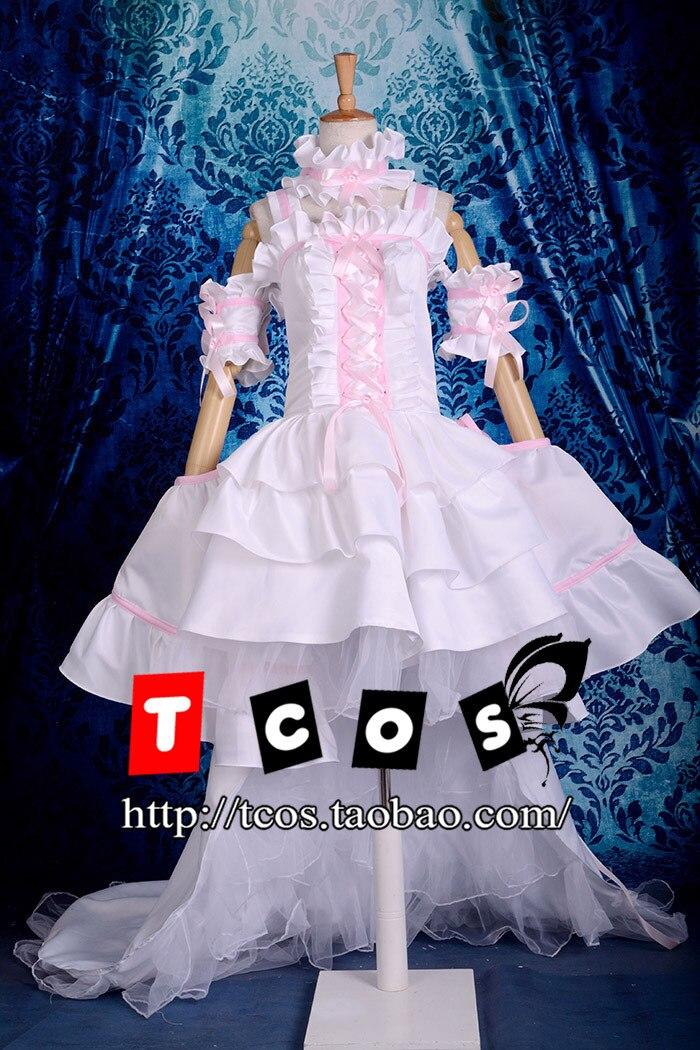 Бесплатная доставка! Высокое качество! Чобиты еруда розовый белый Великолепная Лолита платье Косплэй костюм, Идеально подгонять для вас!