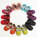 Nueva Moda Gancho y Mirada Del Bebé Zapatos de Bebé de Cuero Genuino Bebé Mocasines Zapatos de Los Bebés