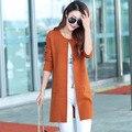 Versión coreana de la caída y ropa de invierno suelta suéter de cachemira de punto de manga larga femenina cardigan chaqueta de la capa