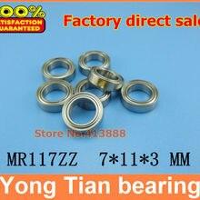 NBZH(1 шт.) Высокое качество миниатюрный шарикоподшипник(нержавеющая сталь 440C материал) SMR117ZZ 7*11*3 мм