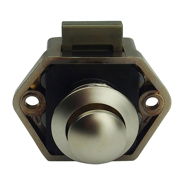 Push Lock Button 20mm Cupboard Door Knob RV Camper Car Motor Home ...