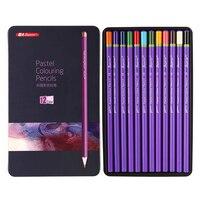 Superior 12 Colors Artist Soft Pastel Colour Pencil Metal Box Non Toxic Sketches Colored Pencils For