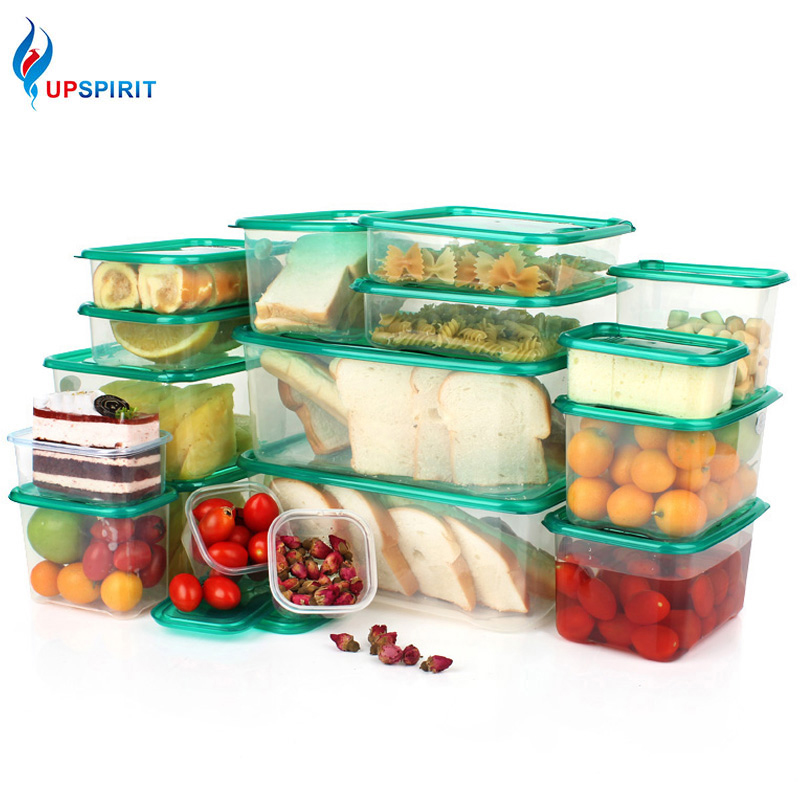 Upspirit 17Pcs/set Plastic Storage Box Plastic Food Container Microwavable Food Storage Container Set Fresh Bento Box Organizer