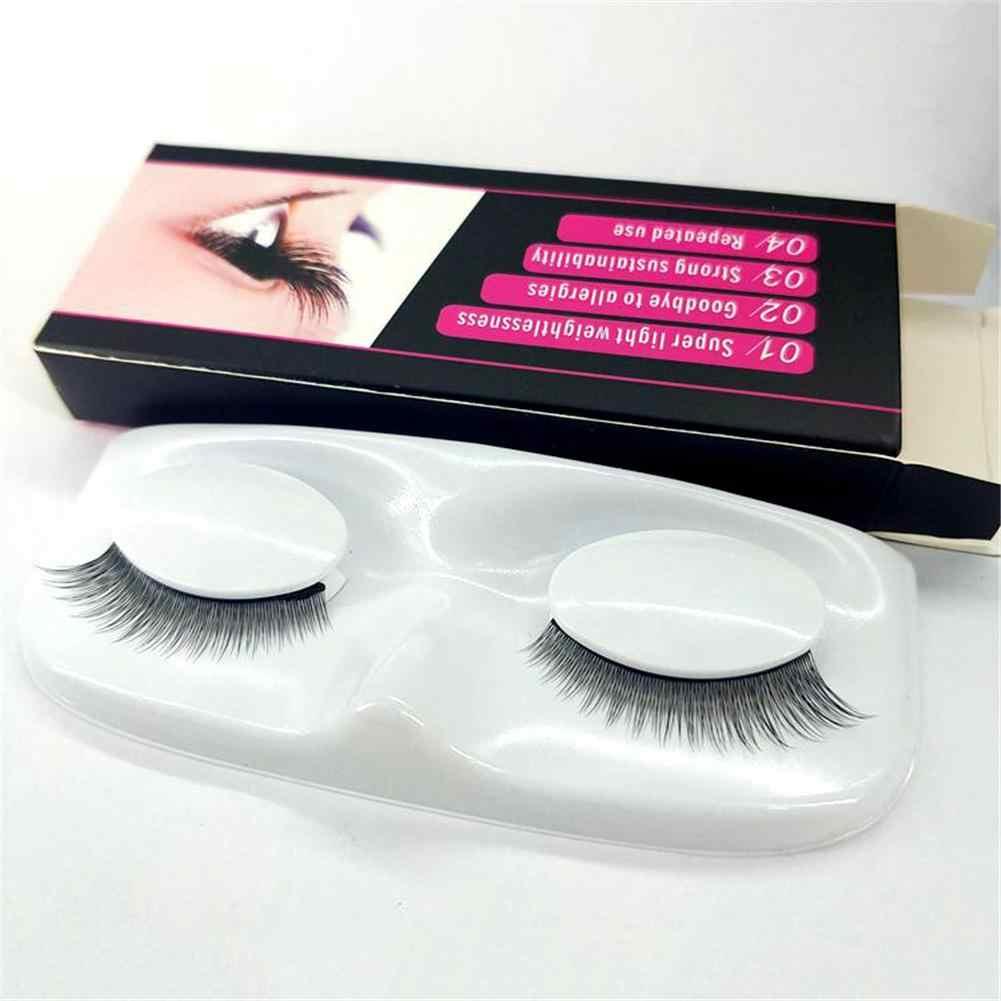 403588e413a One Pair No Glue Self-adhesive One-touch False Eyelashes Without Magnet  Eyelashes Natural