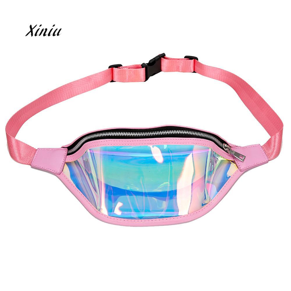 Bentoy Jelly Waterproof Women Waist Pack Crossbody Bag For Tas Selempang Dada Chest 002 Mode Pinggang Wanita Messenger Lucu Laser Pantai Warna Warni