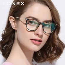 e66ee34cde B gafas de titanio puro marco hombres ultraligero acetato mujeres 2018  nuevo Vintage ronda miopía prescripción óptica gafas