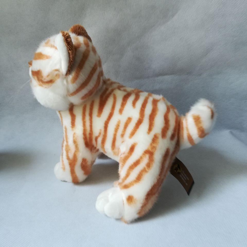 Environ 25 cm dessin animé chat peluche jouet jaune rayures design chat doux poupée enfant jouet cadeau d'anniversaire h2499 - 2