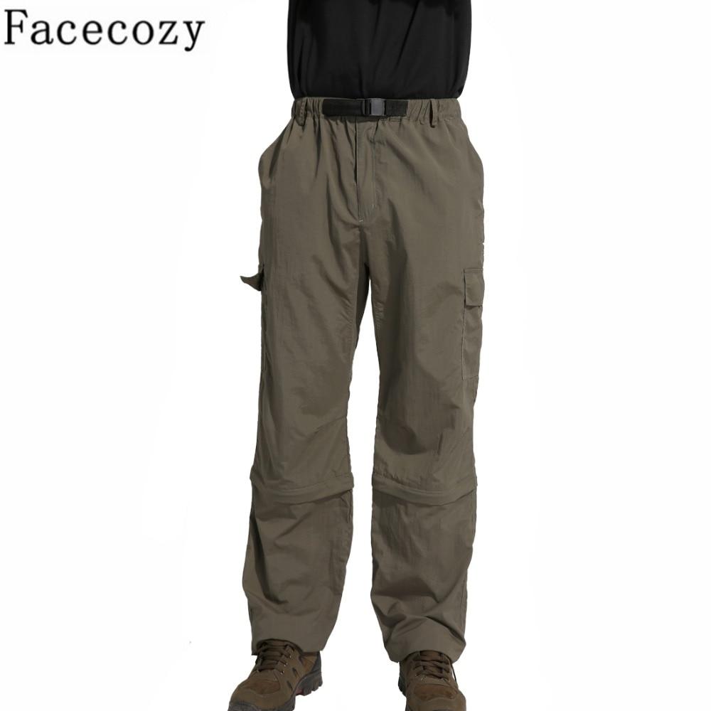 Мужские быстросохнущие брюки Facecozy, спортивные штаны для кемпинга, пеших прогулок, рыбалки, альпинизма, съемные дышащие брюки