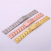 20 мм, золотистый, серебристый, розовое золото, нержавеющая сталь, ремешок для часов для мужчин и женщин, ремешок для часов, браслет, аксессуары, Ремешки для наручных часов