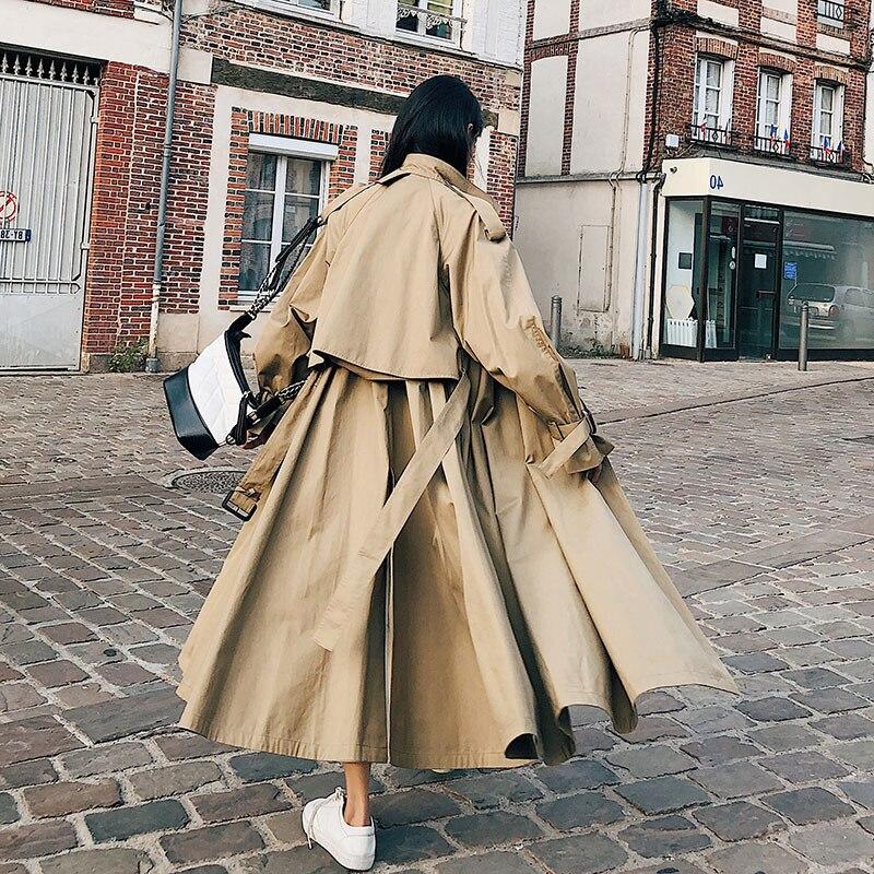 SuperAen cazadora mujer 2019 primavera y otoño nuevo estilo coreano abrigo para mujeres de algodón salvaje ropa de las mujeres-in Zanja from Ropa de mujer    2