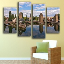 2017 Limited Modern Canvas Unframed Irregular New Product Print Painting Wall 4pc Strasbourg Art Picture For Living Room