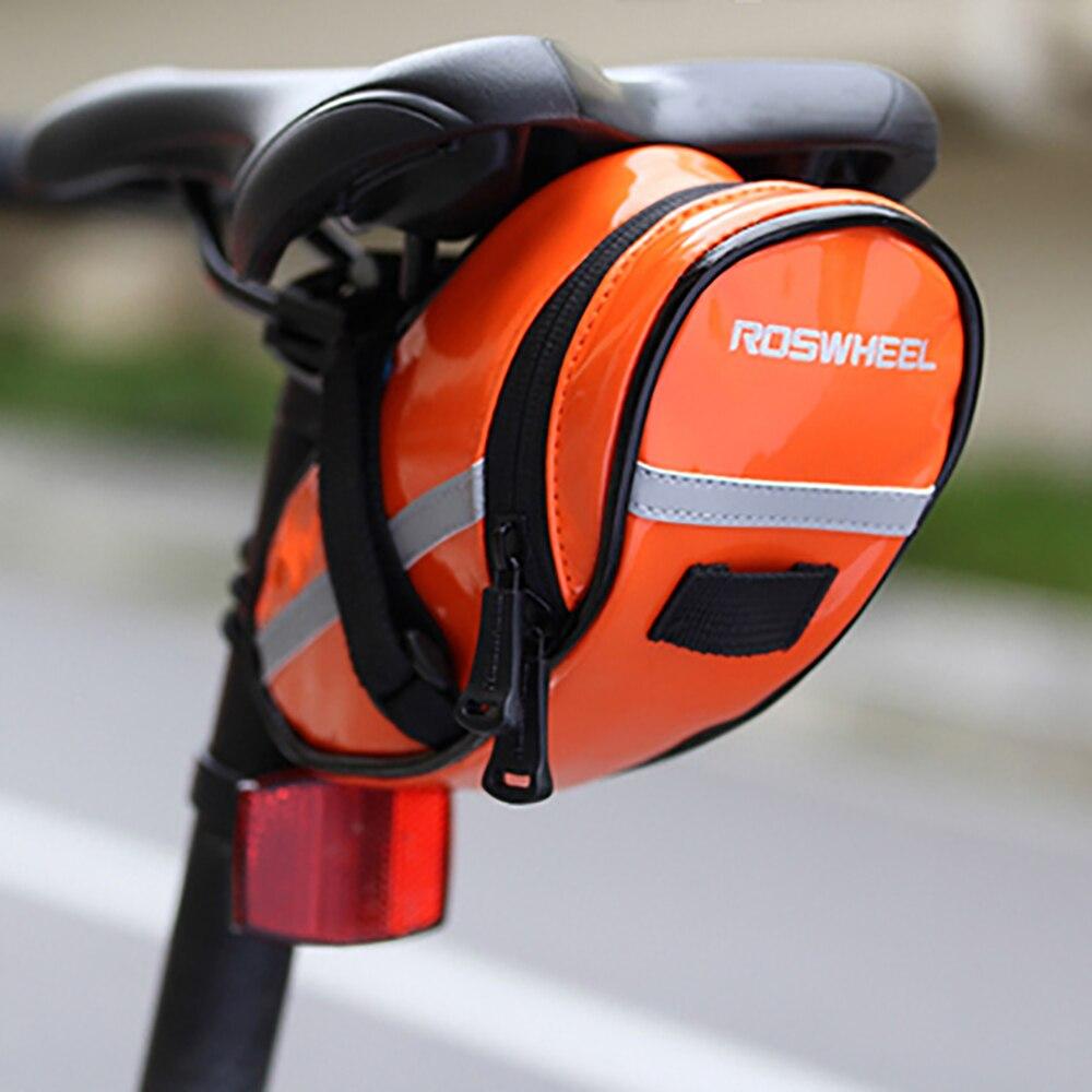 Impermeable Mtb Asiento Noche Bicicleta Cola Carretera Roswheel Almacenamiento Alforja Plegable Rq435jLA